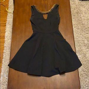Black Beaded Cocktail Dress (XS)